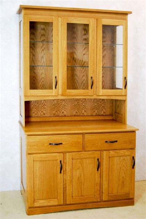 What Is A Hutch Used For 3 Door Oak China Hutch De Vries Woodcrafters