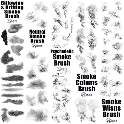 brushes for photoshop smoke fog brush collection for photoshop changers
