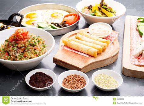 plats cuisin駸 divers plats libanais cuisine m 233 diterran 233 enne photo stock