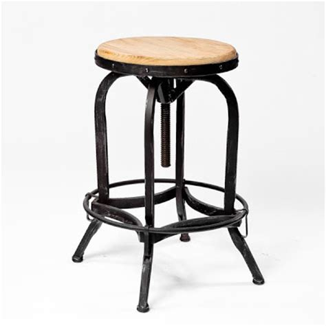 williams sonoma wrought iron counter stool copy cat chic