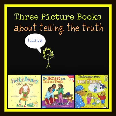 picture books about lying picture books that encourage a child to be honest
