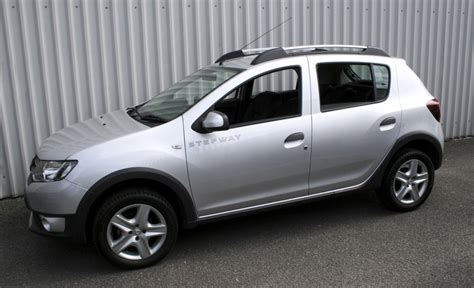 renault sandero stepway black dacia sandero stepway black leather with silver stitching