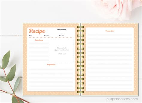 create your own cookbook template make your own cookbook template il fullxfull 1005409926