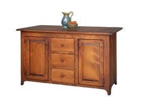 Furniture Kitchen Island Amish Handcrafted Bobby S Rule Kitchen Island