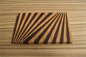 Cutting Board Designs Fan Pattern End Grain Cutting Board