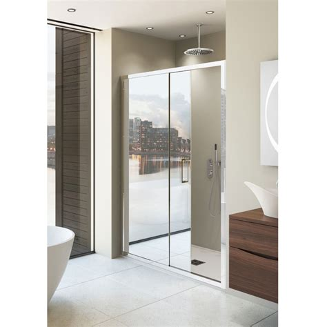 bathroom door mirror simpsons elite mirrored single slider shower door 5