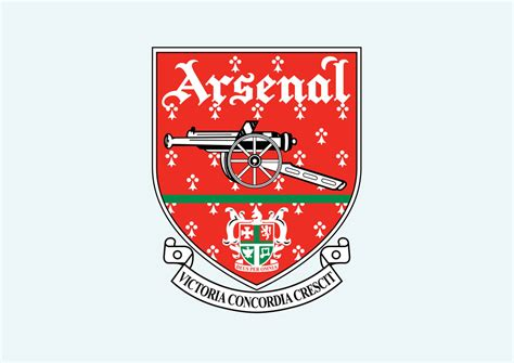 arsenal logo vector arsenal fc vector art graphics freevector com