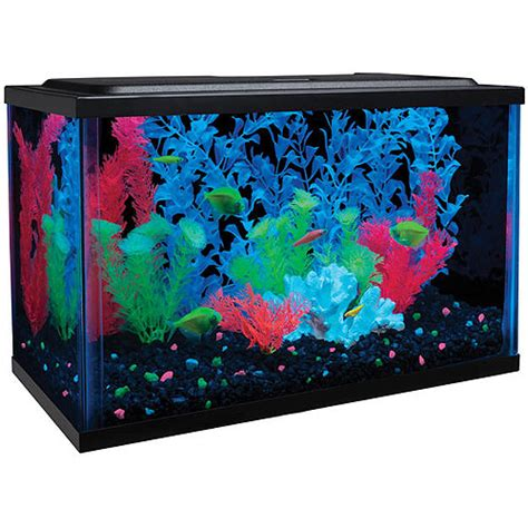 Aquarium Decorations Walmart couponamama glofish 5 gallon aquarium kit