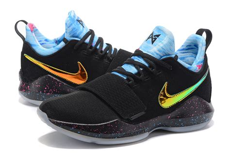 Sepatu Basket Paul George 1 Black basketball shoes for cheap all basketball scores info