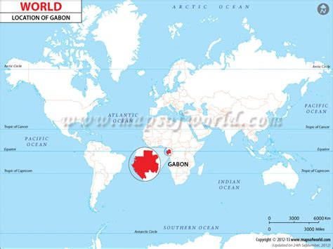 where is gabon on the world map where is gabon location of gabon