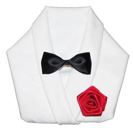tuxedo fold napkin folding hair bow instructions