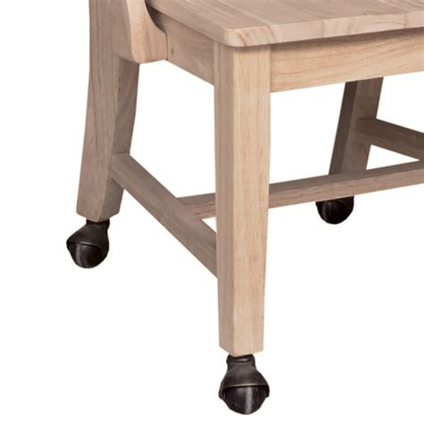 Dining Chair Casters Mission Dining Side Chair With Casters
