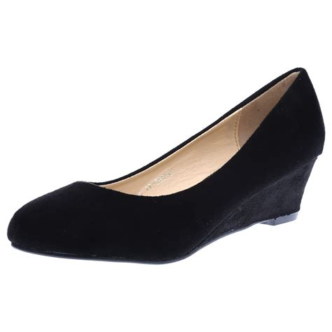 Sandal Casual Wedges Wanita 2 womens wedges low heels work office court shoes