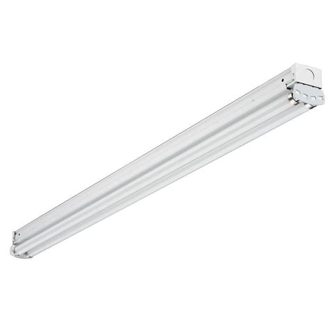 Lithonia Lighting 2 Light Fluorescent Wraparound For 48 Fluorescent Light Fixture Home Depot