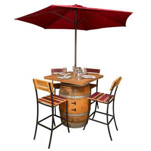 Wine Barrel Patio Furniture by Wine Barrel Furniture Tables And Sets Barrel Head Coffee