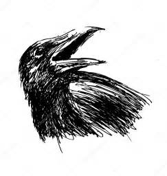 crow head drawing www pixshark com images galleries