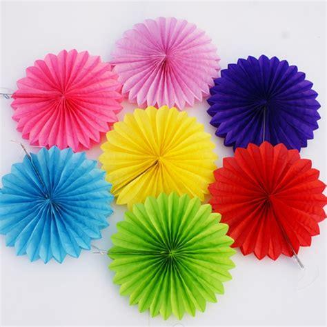 decorative crafts cm pcs flower origami paper fan