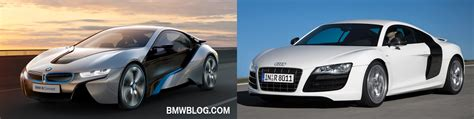 photo comparison bmw i8 vs audi r8