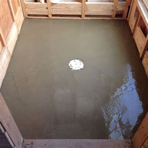 cement for the shower pan renovation