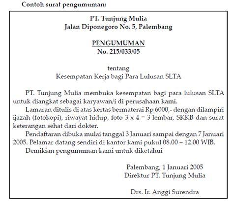 soal bahasa indonesia berikan contoh surat edaran dan contoh surat