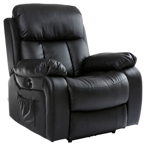 Heated Recliner by Chester Electric Heated Leather Recliner Chair Sofa Gaming Home Armchair Ebay