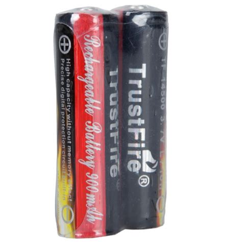 Trustfire 14500 Li Ion Battery 900mah 3 7v 2 x trustfire 3 7v 900mah 14500 li ion rechargeable batteries alex nld