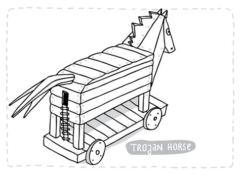 coloring page trojan horse the trojan horse coloring pages