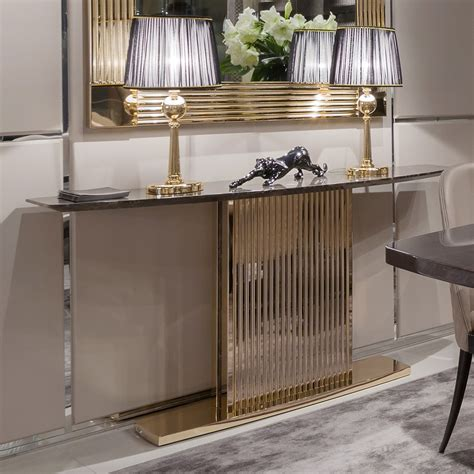 italian uk gold contemporary italian designer marble console and