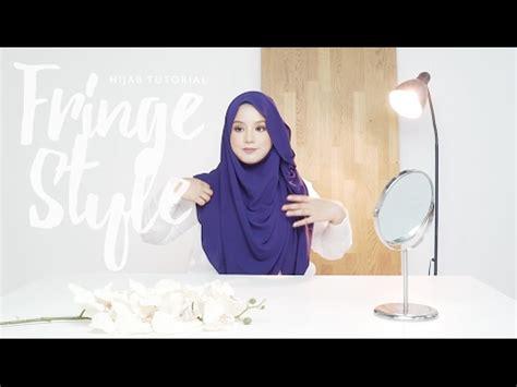 tutorial pashmina crepe hijab tutorial fringe style using bubble crepe afreen
