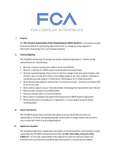 why is chrysler an llc fiat chrysler automobiles fca scholarship for bdpa students