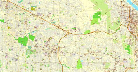 map of oregon pdf portland oregon vancouver washington us exact vector
