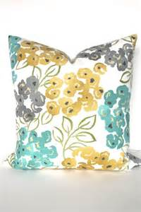 Pillows And Throws Turquoise Pillows Yellow Pillow Covers Teal Throw Pillows