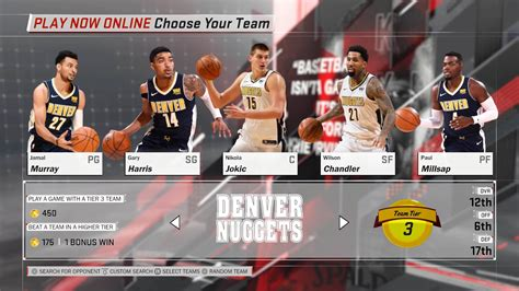 Baju Denver Nuggets Nba Team denver nuggets nba 2k18 team roster
