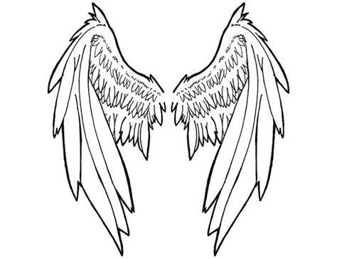 angel wing tattoo outline tattooic