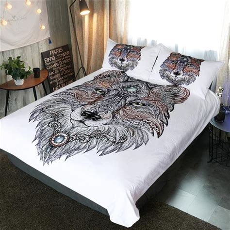 tribal bedding set tribal wolf art bedding set wolvestuff
