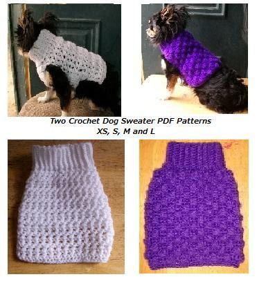 crochet pattern dog jumper 2 crochet dog sweater patterns pdf patterns
