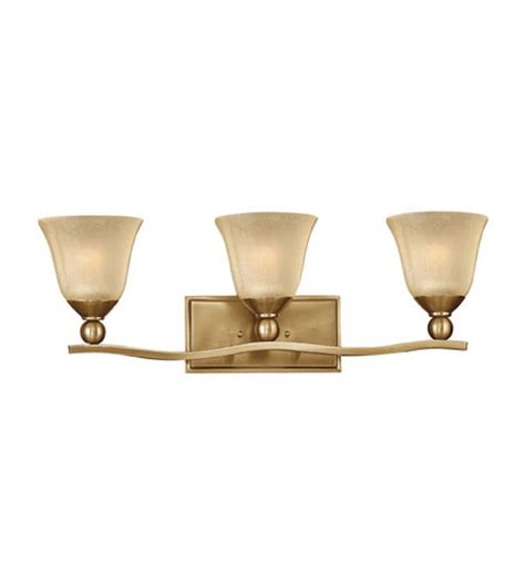 Brushed Bronze Bathroom Lighting Hinkley Lighting Bolla 3 Light Bath Vanity In Brushed Bronze 5893br