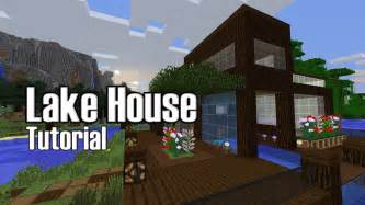 minecraft lake house tutorial