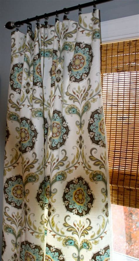 turquoise brown curtains turquoise yellow grey brown and white medallion curtain