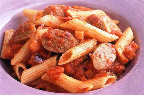pasta sausage sausage and tomato pasta recipe goodtoknow