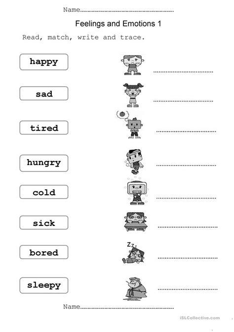 Feelings Worksheet by Feelings And Emotions Worksheet Free Esl Printable