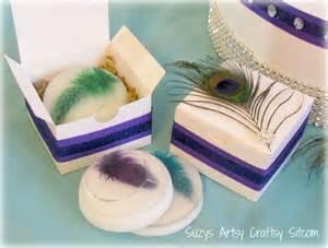 Peacock Favor Ideas by Diy Wedding Peacock Theme Soap Gift Box
