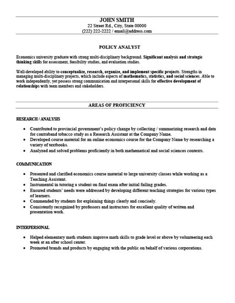 Health Policy Analyst Sle Resume by Policy Analyst Resume Template Premium Resume Sles Exle