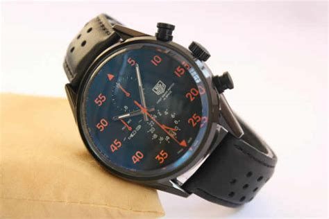 Jam Tangan Pria Cowok Tag Heuer Space Leather Brown Plat White tagheuer spacex black orange otomatis 4 4cm 395