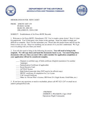 Official Usaf Letterhead Memorandum For Record Air Fill Printable Fillable Blank Pdffiller
