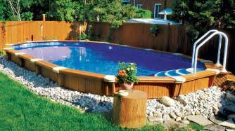 Building A Deck On A Sloped Backyard Best Semi Inground Swimming Pools Pool Design Ideas