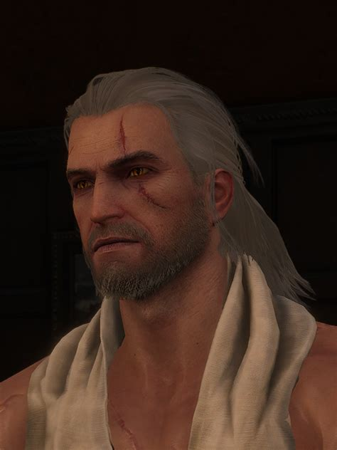 beard and hairstyles for geralt where i can change hair witcher 3