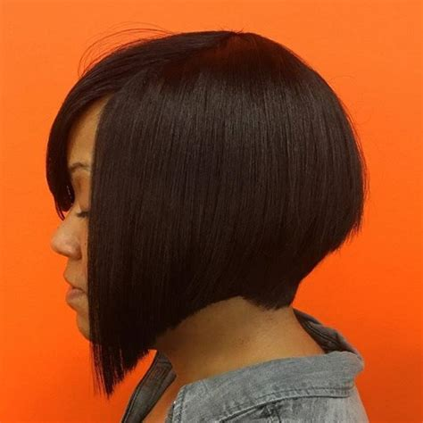 angled hair cuts for black women 40 short bob hairstyles layered stacked wavy and angled