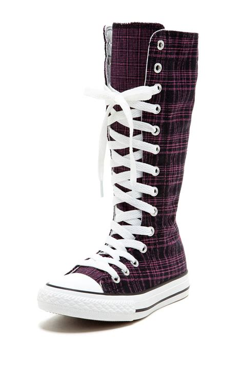 converse shoes for knee high yup my pair of converse well maybe knee high and a