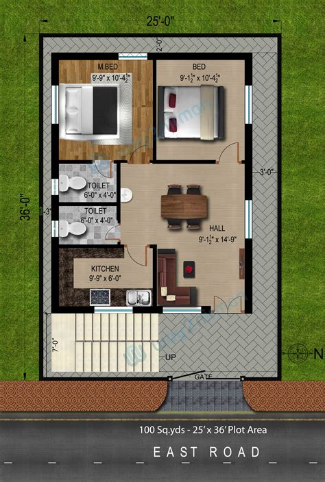 2 bhk house plan 1000 sq ft house plans 2 bedroom east facing